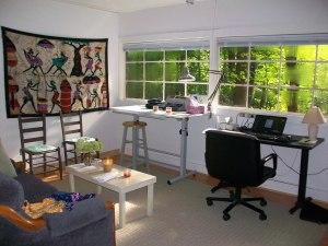 Inside my writing studio.